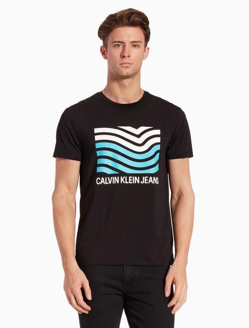 CALVIN KLEIN LOGO FLAG PRINT 티셔츠