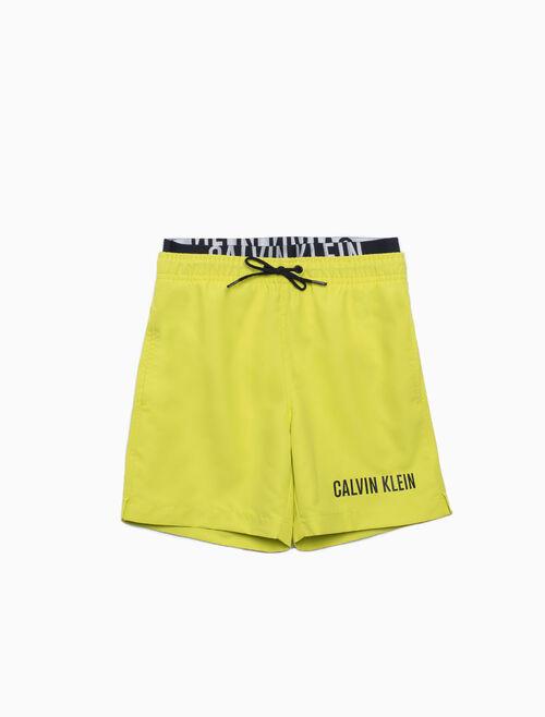 CALVIN KLEIN 男孩款 DOUBLE WAISTBAND 泳褲
