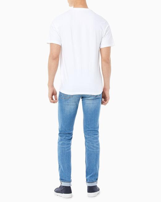 CALVIN KLEIN 남성 레귤러핏 인스티튜셔널 로고 반팔 티셔츠