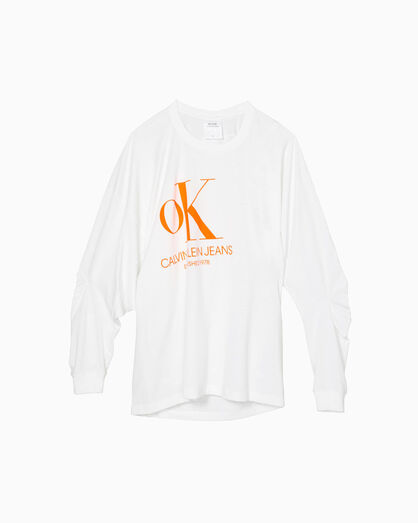 CALVIN KLEIN OK ロゴ リバランス ロングスリーブ T シャツ