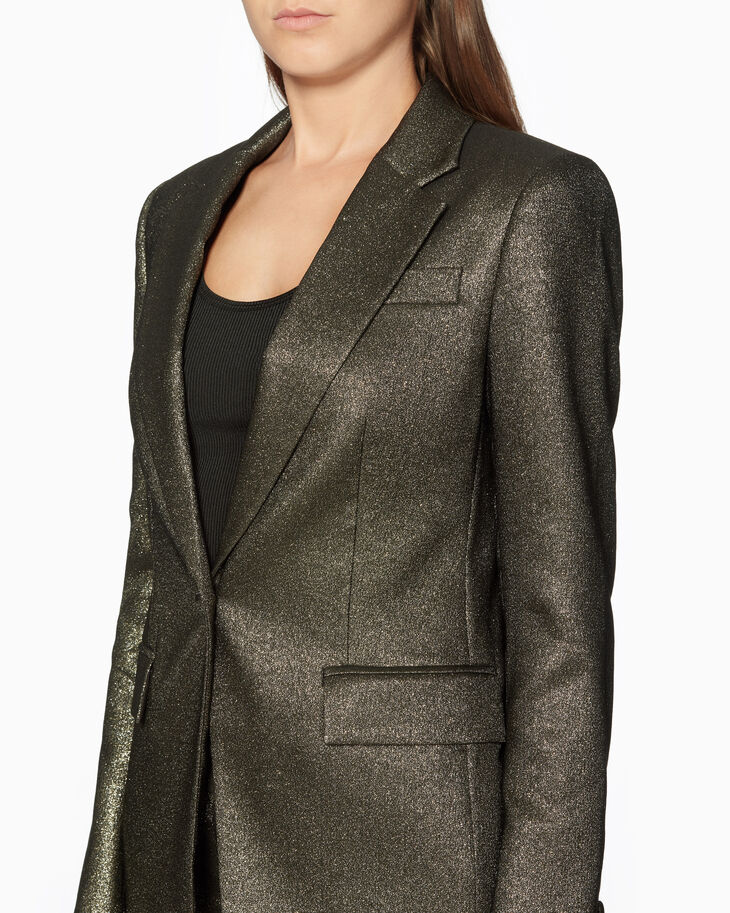 CALVIN KLEIN METALLIC SINGLE-BREASTED SUIT JACKET