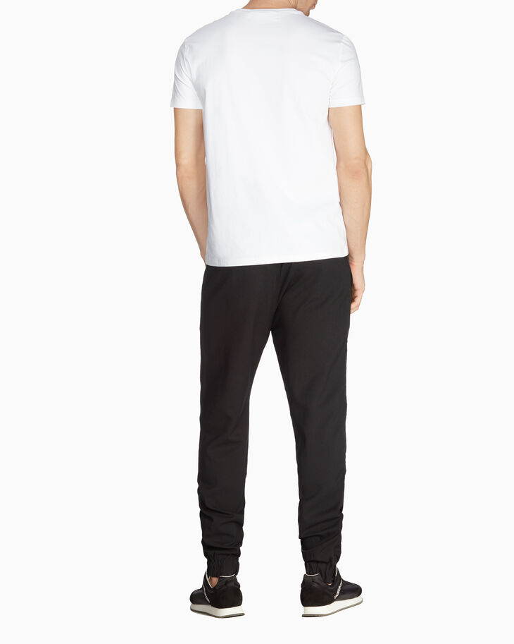 CALVIN KLEIN MIXED MEDIA WOOL BLEND JOGGERS