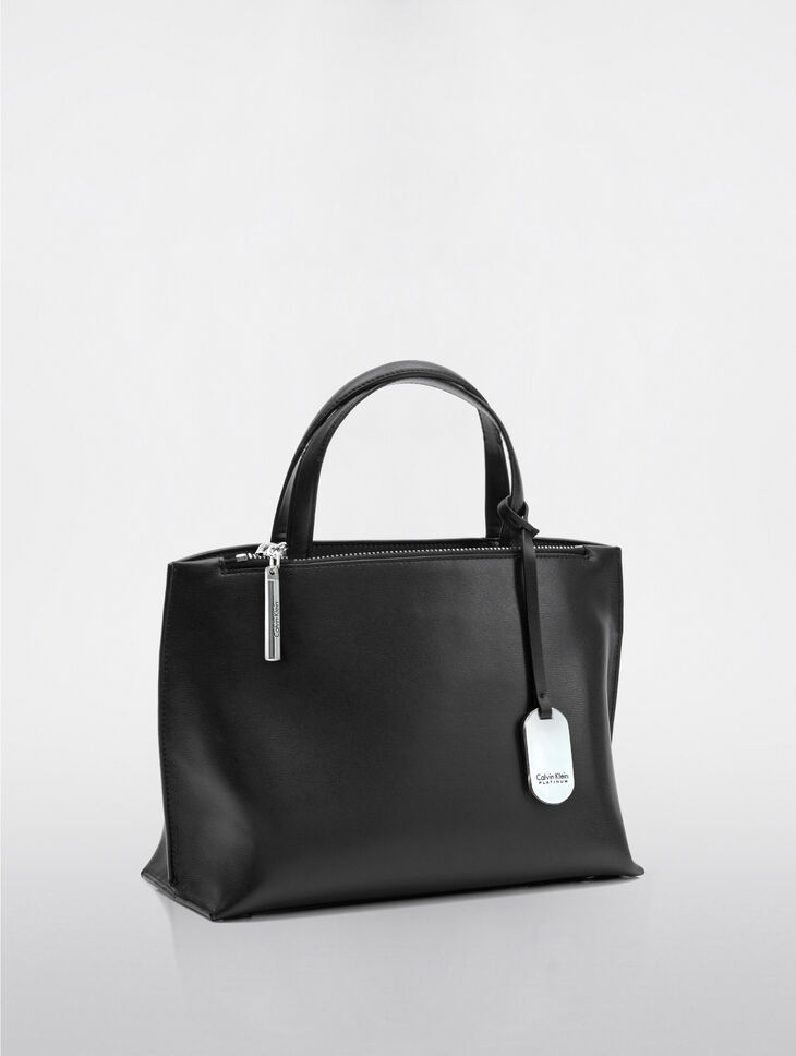 CALVIN KLEIN EDGED SMALL TOTE