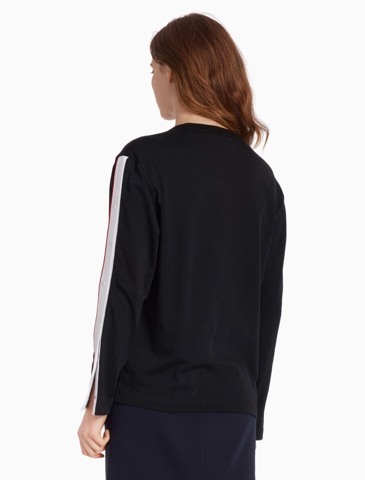 CALVIN KLEIN LONG SLEEVE TAPE TOP
