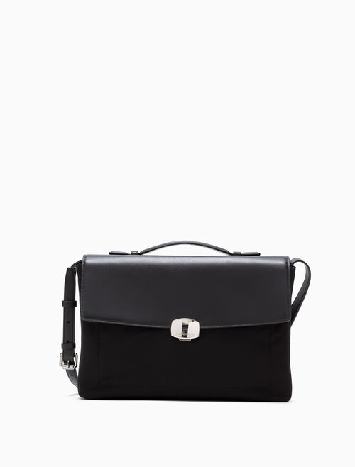 CALVIN KLEIN LOGO PLAQUE ATTACHE CASE