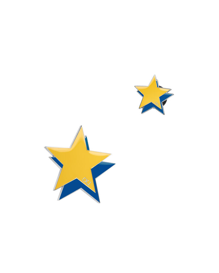 CALVIN KLEIN YELLOW BLUE STARS PINS SET