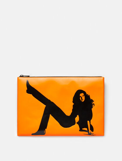 CALVIN KLEIN ICON LEATHER POUCH