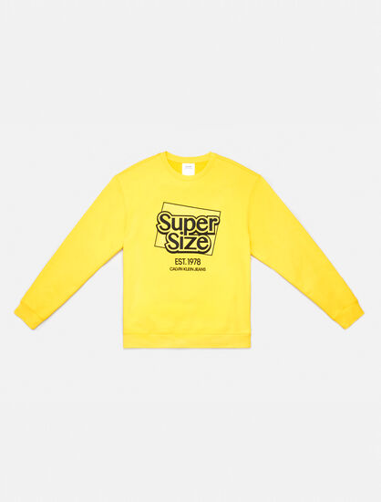 CALVIN KLEIN SUPER SIZE GRAPHIC CREWNECK SWEATSHIRT