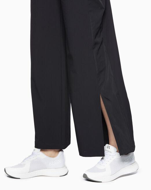 CALVIN KLEIN 여성 액티브 아이콘 와이드 레그 우븐 팬츠