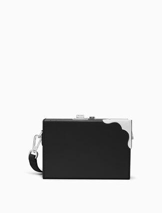 CALVIN KLEIN luxe calf mini box clutch