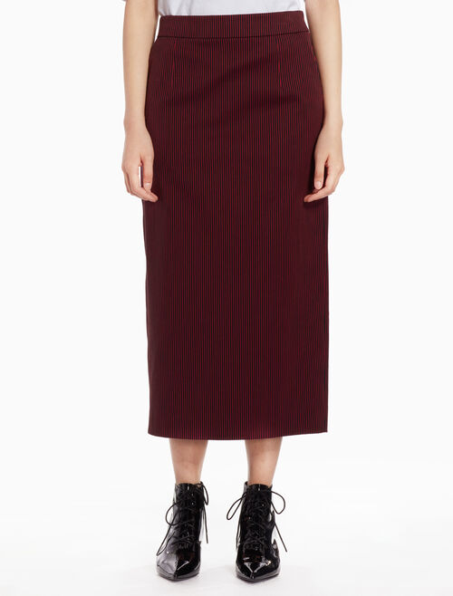 CALVIN KLEIN Striped pencil skirt