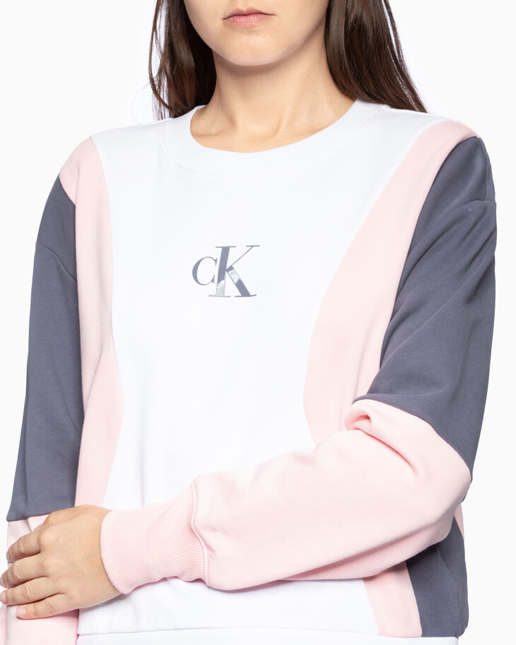 CALVIN KLEIN COLOR BLOCK SWEATSHIRT