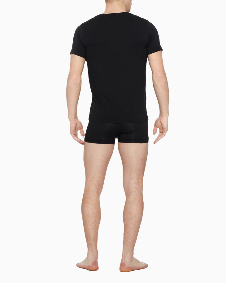 CALVIN KLEIN CK BLACK COTTON CREW NECK TEE