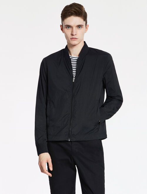 CALVIN KLEIN CRUSHED FEATHER NYLON BOMBER - PERFORATED LINING