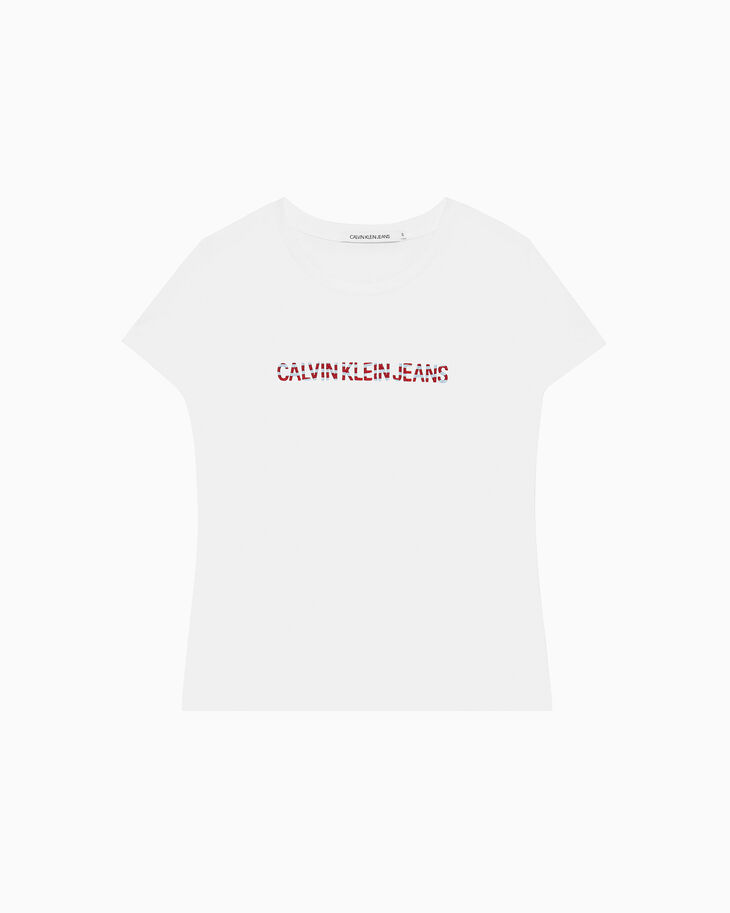 CALVIN KLEIN EMBROIDERED ロゴ T シャツ