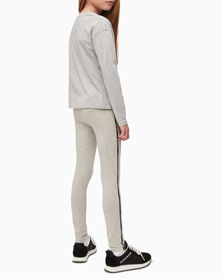 CALVIN KLEIN GIRLS LOGO TAPE LEGGINGS