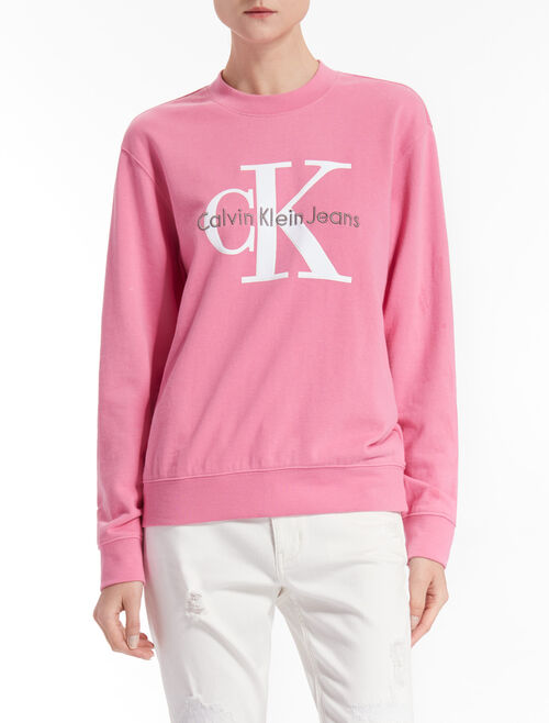 CALVIN KLEIN HONORARY TRUE ICON PULLOVER SWEATSHIRT
