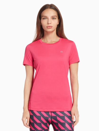 CALVIN KLEIN ACTIVE ICON BACK STRIPE 티셔츠