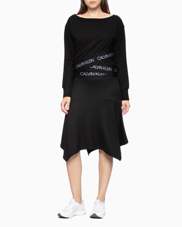 CALVIN KLEIN ACTIVE ICON WRAP-OVER HEM SWEATSHIRT