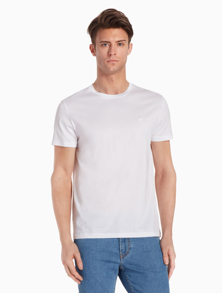 CALVIN KLEIN 머서라이즈드 코튼 티셔츠