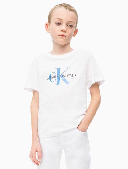 CALVIN KLEIN 남아용 모노그램 크루 티셔츠
