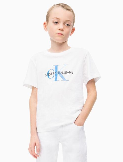CALVIN KLEIN BOYS MONOGRAM クルーネック T シャツ
