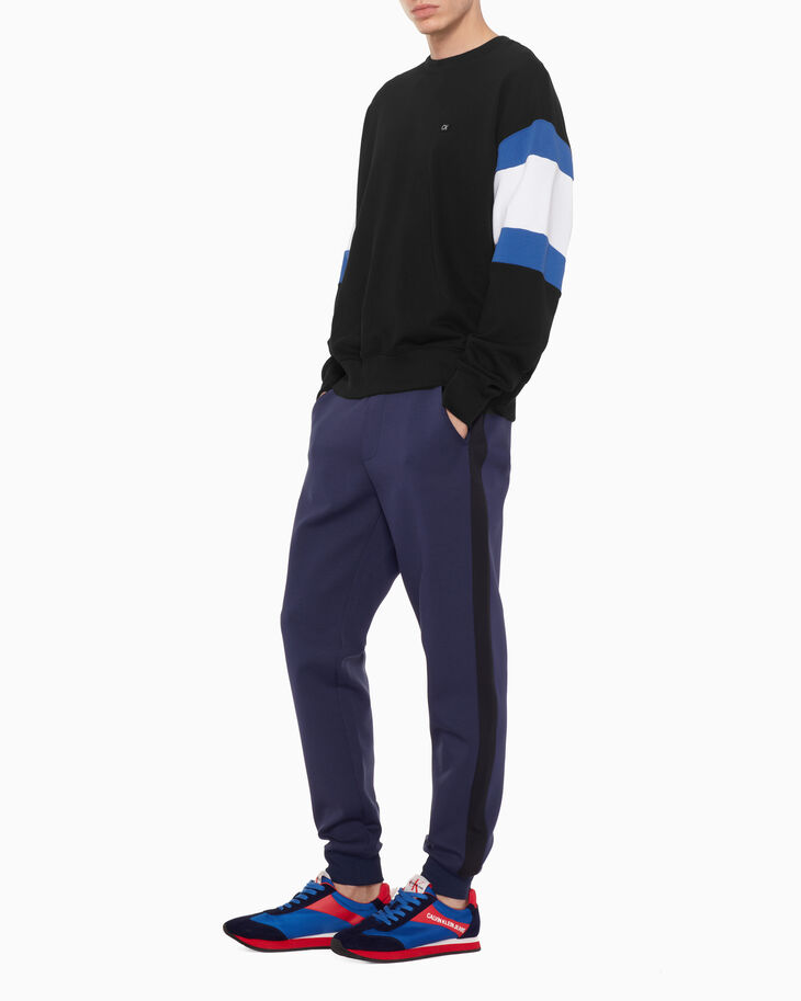 CALVIN KLEIN COLOR PANEL SWEATSHIRT