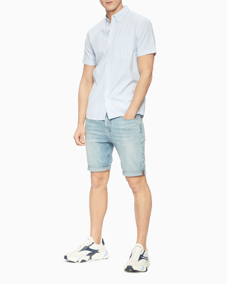 CALVIN KLEIN STRIPED SHORT SLEEVE SHIRT