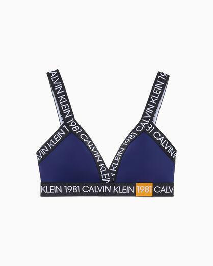 CALVIN KLEIN CK1981BOLD LIGHTLY LINED トライアングルブラレット