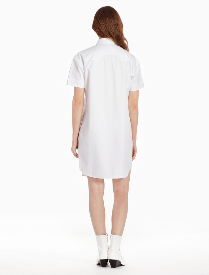 CALVIN KLEIN Z TWIST COWBOY SHIRT DRESS