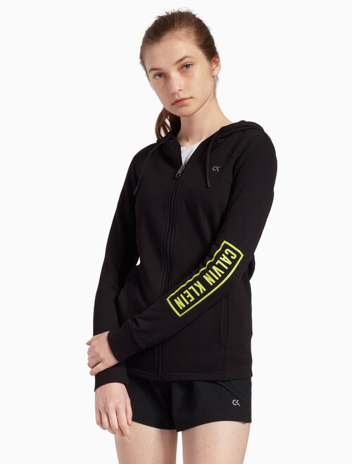 CALVIN KLEIN BOX LOGO HOODED JACKET