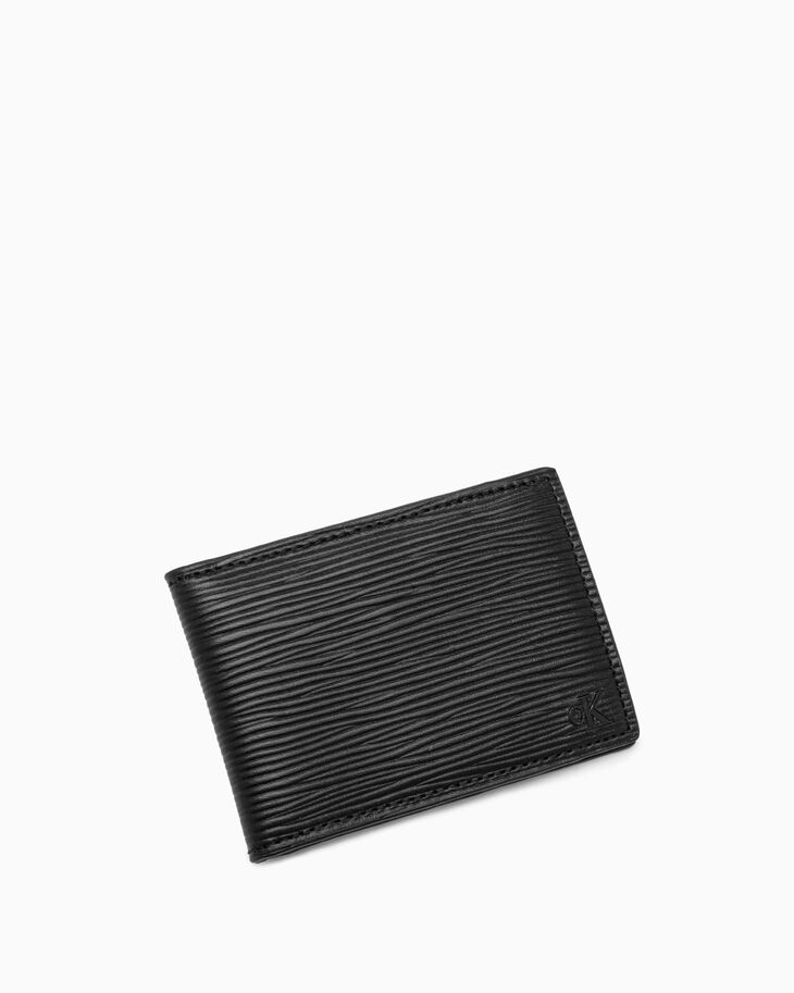 CALVIN KLEIN TEXTURED MONOGRAM WALLET WITH CARD CASE
