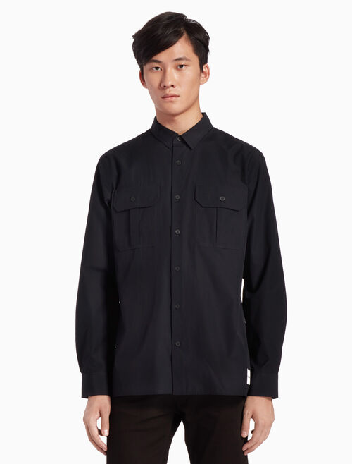 CALVIN KLEIN INSTITUTIONAL POPLIN SHIRT
