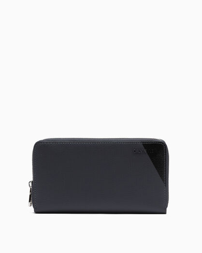 CALVIN KLEIN AIDEN TEXTURE LONG ZIP AROUND WALLET