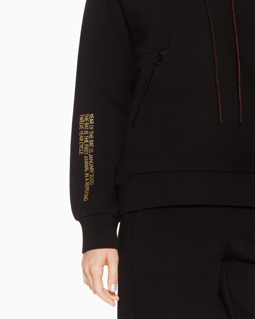 CALVIN KLEIN 여성 씨엔와이 후디드 스웨트 자켓