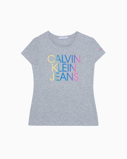 CALVIN KLEIN GIRLS GRADIENT HERO LOGO TEE