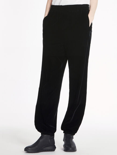 CALVIN KLEIN SMOOTH CUPRO VELVET PANTS