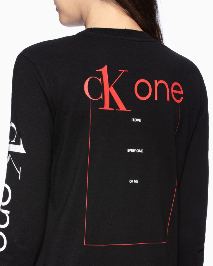 CALVIN KLEIN CK ONE ROSE LOGO STRAIGHT TEE
