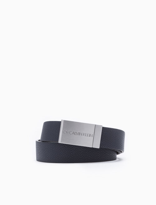 CALVIN KLEIN METAL LOGO PLAQUE BELT