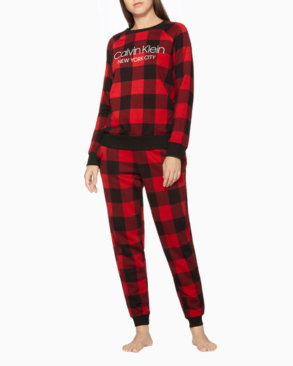 CALVIN KLEIN WOMEN BUFFALO CHECK SWEATSHIRT