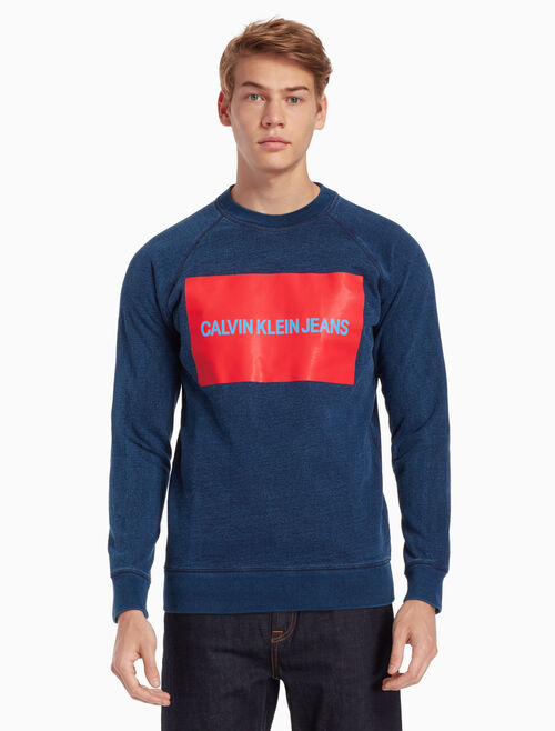 CALVIN KLEIN INDIGO INSTITUTIONAL SWEATSHIRT