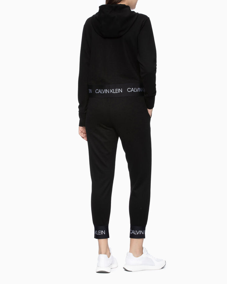 CALVIN KLEIN KNIT SWEATPANTS WITH LOGO CUFF