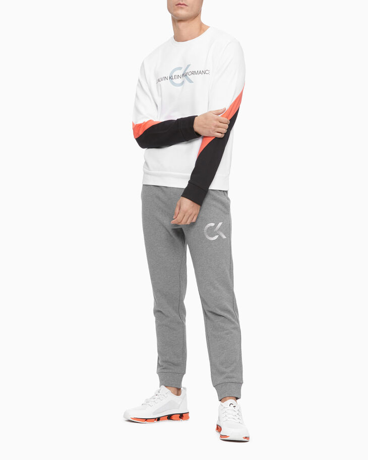 CALVIN KLEIN PERFORMANCE ICON COLOR BLOCK SWEATSHIRT