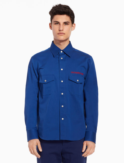 CALVIN KLEIN Woven shirt with logo details
