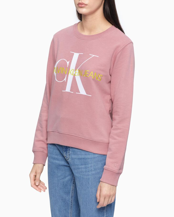 CALVIN KLEIN SUSTAINABLE ICONS MONOGRAM SWEATSHIRT