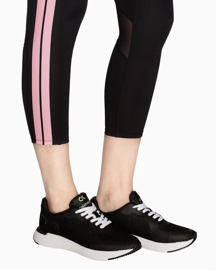 CALVIN KLEIN SIDE STRIPE CROPPED LEGGINGS