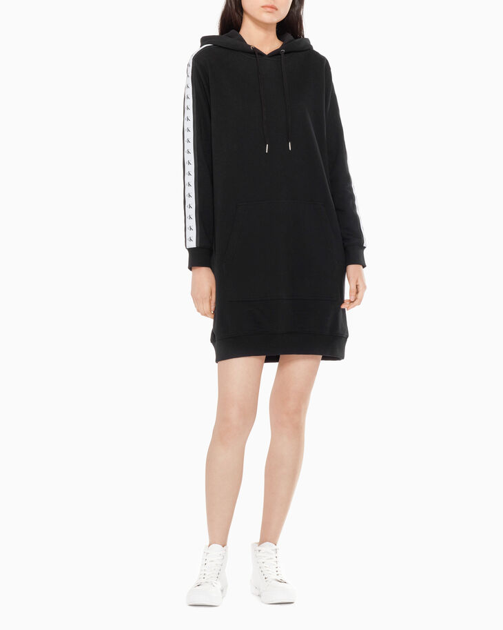 CALVIN KLEIN MONOGRAM TAPE SWEAT DRESS