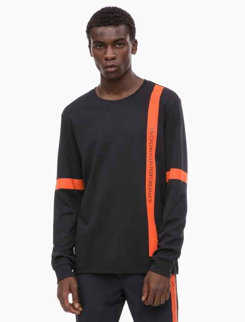 CALVIN KLEIN BOLD STRIPE LONG SLEEVE TEE