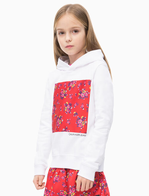 CALVIN KLEIN GIRLS FLOWER PRINT フーディ