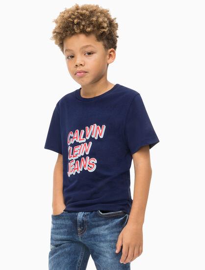 CALVIN KLEIN BOYS 3D LOGO CREW TEE